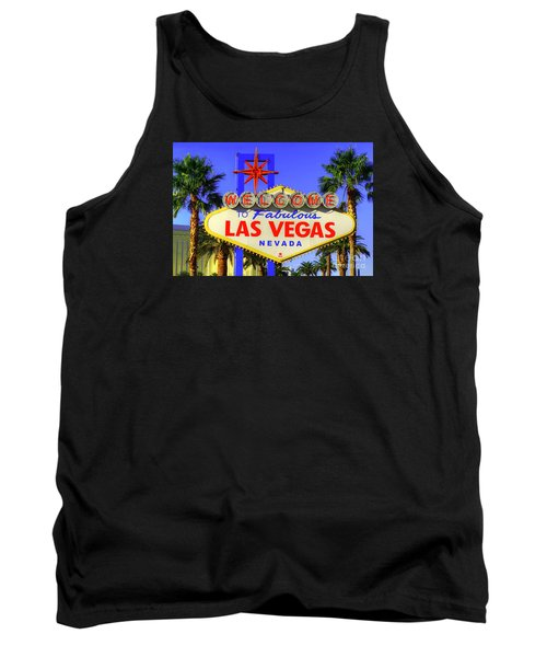 Welcome To Las Vegas Tank Top by Anthony Sacco