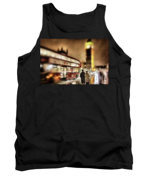 Tank Top featuring the photograph Westminster Bridge In Rain by Jim Albritton