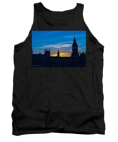 Westminster Parlament In London Golden Hour Tank Top