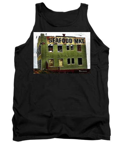 Tank Top featuring the photograph Westport Washington Seafood Market by Sadie Reneau