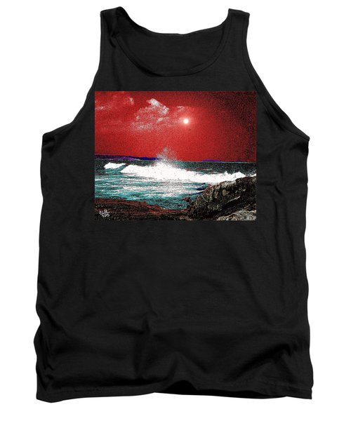 Whaleback At Peaks Island Maine Tank Top