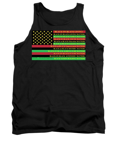 What About Black On Black Living? Tank Top