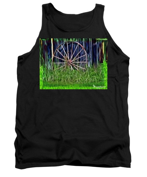 Tank Top featuring the photograph Wheel Of Fortune by EricaMaxine  Price
