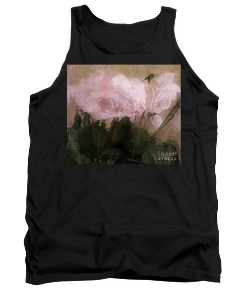 Tank Top featuring the digital art Whisper Of Pink Peonies by Alexis Rotella