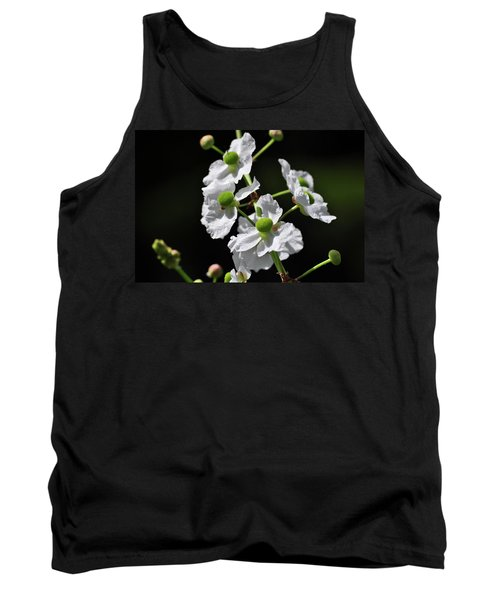 White And Green Wildflowers Tank Top