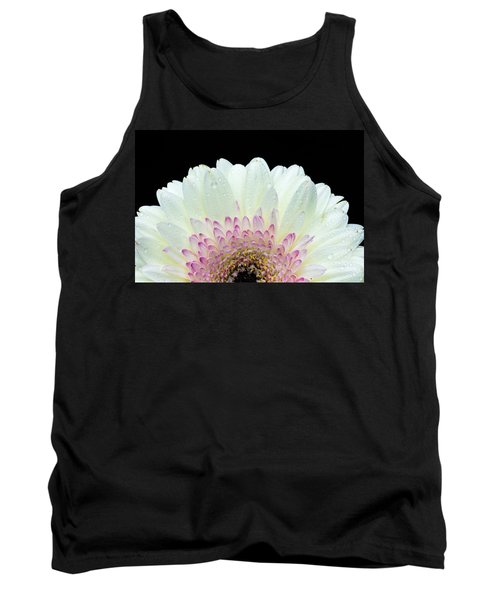 White And Pink Daisy Tank Top