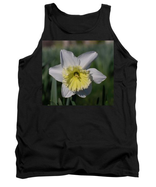 White And Yellow Daffodil Tank Top
