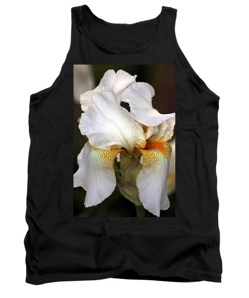 Tank Top featuring the photograph White Bearded Iris by Sheila Brown