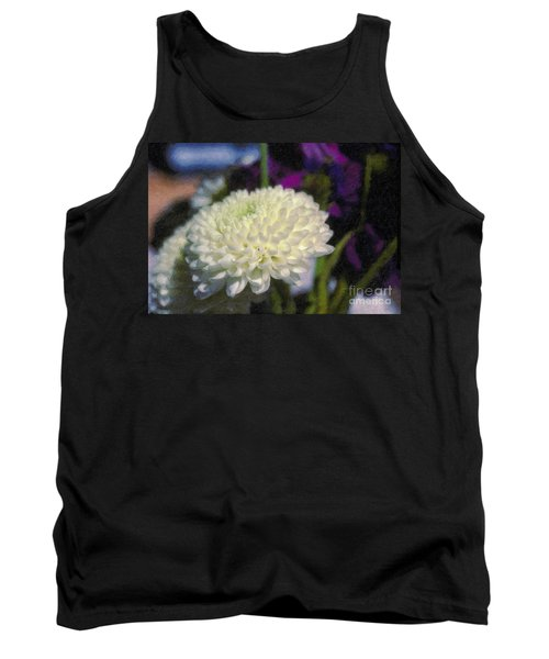 Tank Top featuring the photograph White Chrysanthemum Flower by David Zanzinger