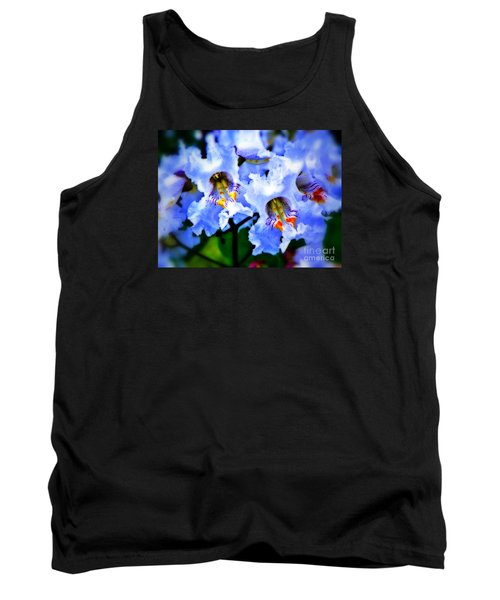 White Flowers Tank Top by Craig Walters