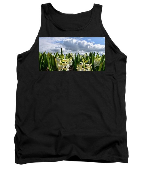 White Hyacinth Field Tank Top by Mihaela Pater