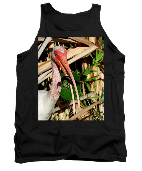White Ibis Eating Crayfish Tank Top