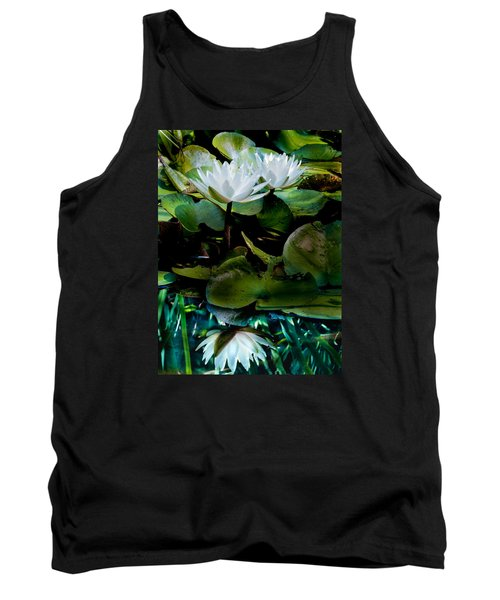 White Lilies, White Reflection Tank Top