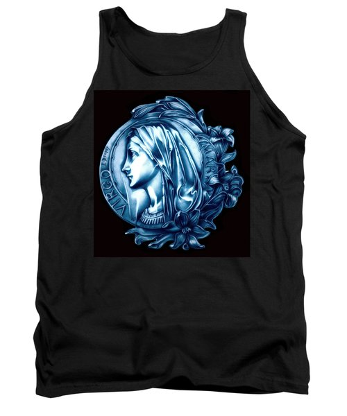 White Lilly Of The Virgin Mary Tank Top by Fred Larucci