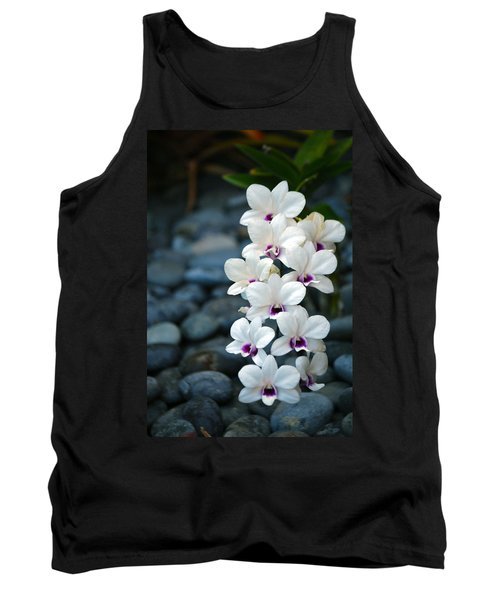 Tank Top featuring the photograph White Orchids by Debbie Karnes