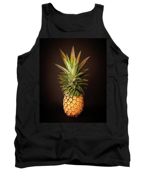 White Pineapple King Tank Top