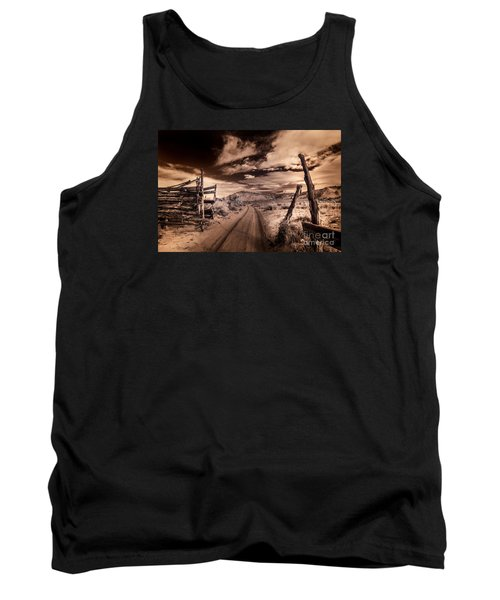 White Pocket Corral Tank Top by William Fields