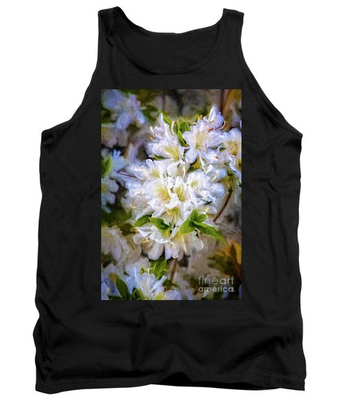 White Rhododendron Tank Top