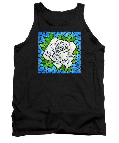White Rose  Tank Top by Jim Harris