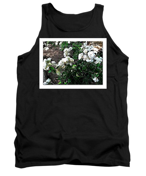 Tank Top featuring the photograph White Roses by Joan  Minchak