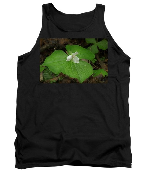 Tank Top featuring the photograph White Spring Trillium by Mike Eingle