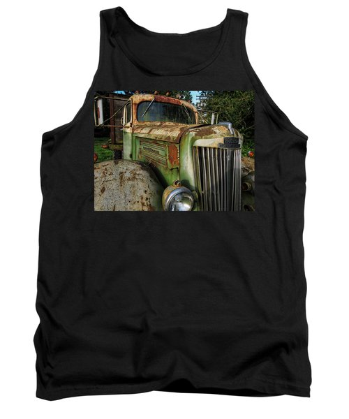 White Super Power Truck Tank Top