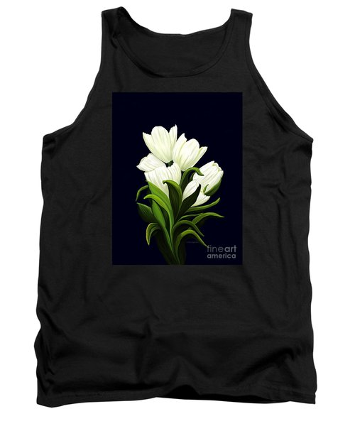 Tank Top featuring the painting White Tulips by Patricia Griffin Brett