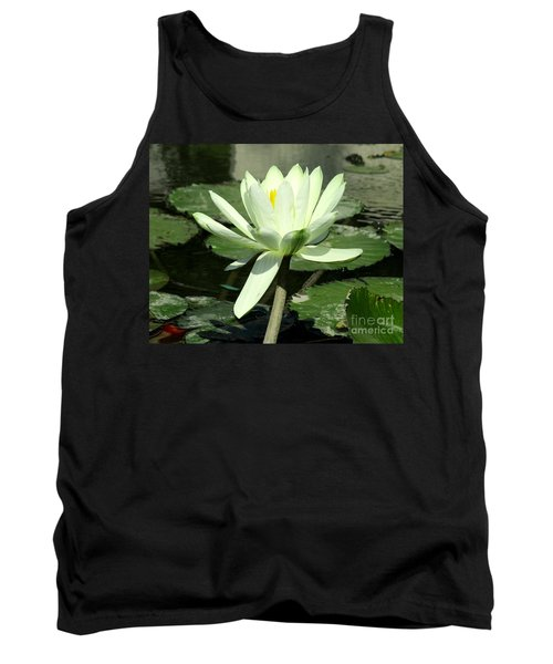 Tank Top featuring the photograph White Water Lily 1 by Randall Weidner