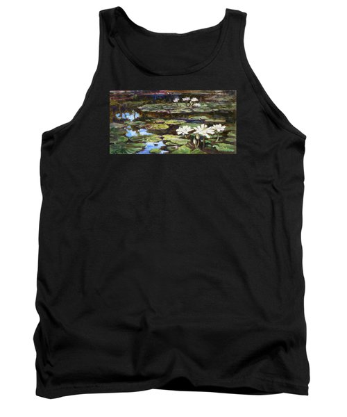 White Waterlilies In Tower Grove Park Tank Top