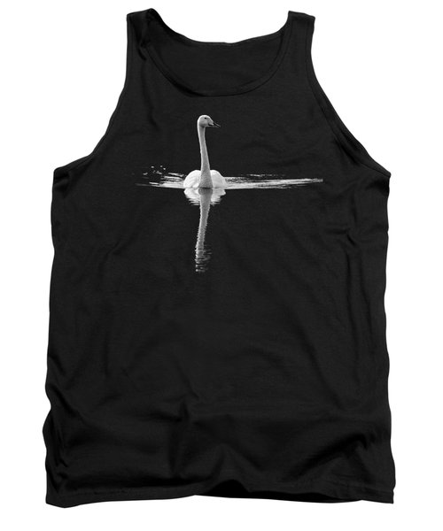 Whooper Swan Bw  Transparent Tank Top
