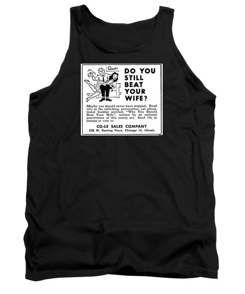 Why You Should Beat Your Wife Tank Top