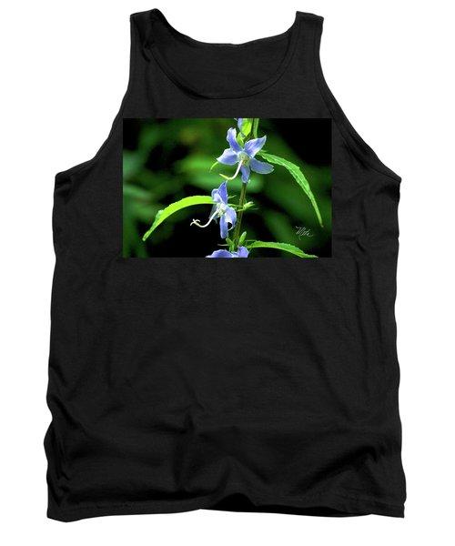 Wild Blue Flowers Tank Top