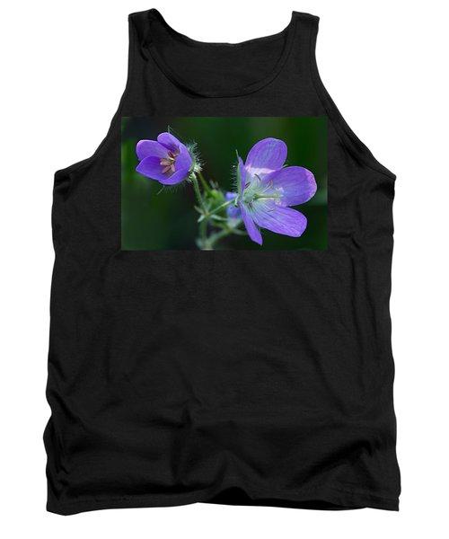 Wild Geraniums Tank Top