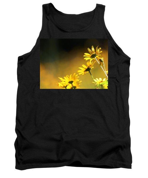 Wild Sunflowers Stony Brook New York Tank Top by Bob Savage