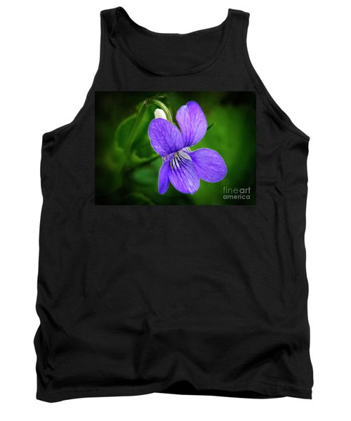 Wild Violet Flower Tank Top
