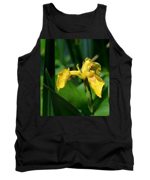 Wild Yellow Iris Tank Top by Kathy Eickenberg