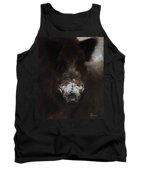 Wildboar With Snowy Snout Tank Top