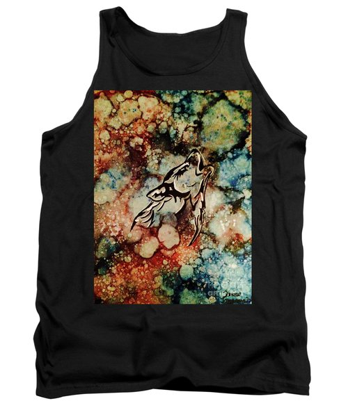 Tank Top featuring the painting Wilderness Warrior by Denise Tomasura