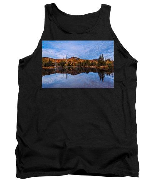 Wildlife Pond Autumn Reflection Tank Top