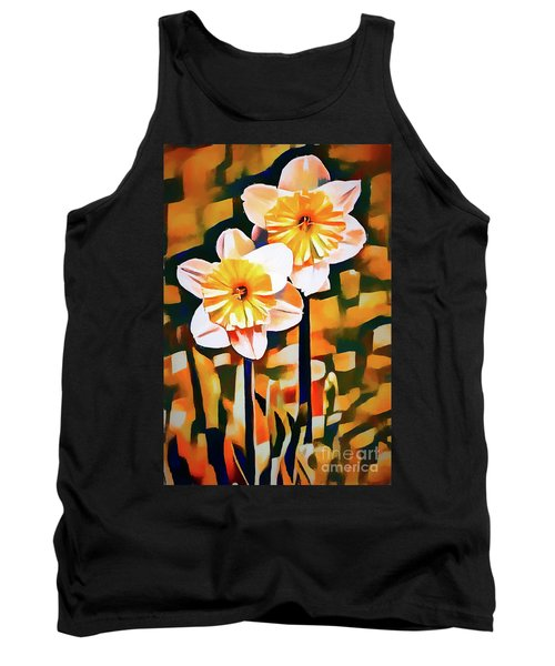 Wildly Abstract Daffodil Pair Tank Top