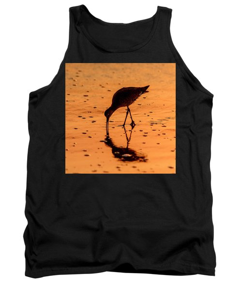 Tank Top featuring the photograph Willet On Sunrise Surf by Steven Sparks