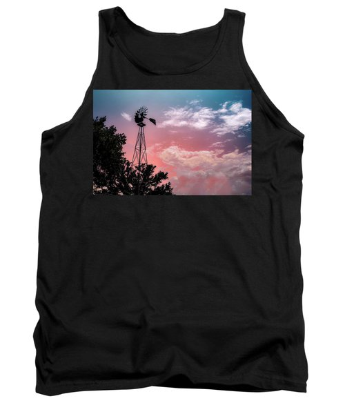 Windmill At Sunset Tank Top
