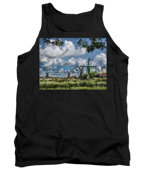 Windmills Of Holland Tank Top by Shirley Mangini