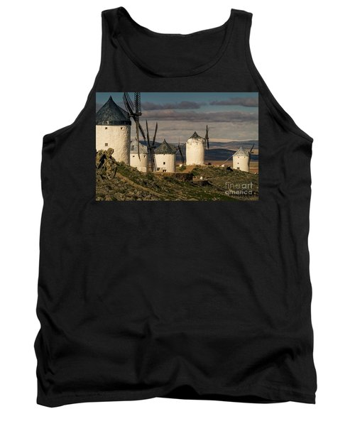 Tank Top featuring the photograph Windmills Of La Mancha by Heiko Koehrer-Wagner