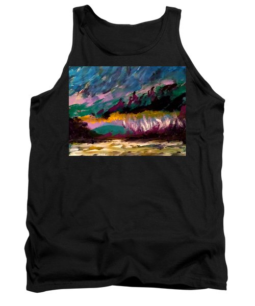 Windy Day On Gulf Islands Tank Top