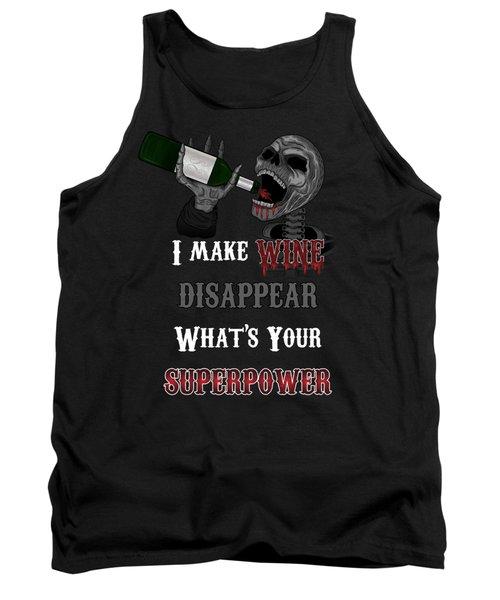 Wine Superpower Skeleton Fantasy Art Tank Top