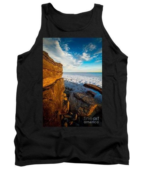 Winter Beach Sunset Tank Top