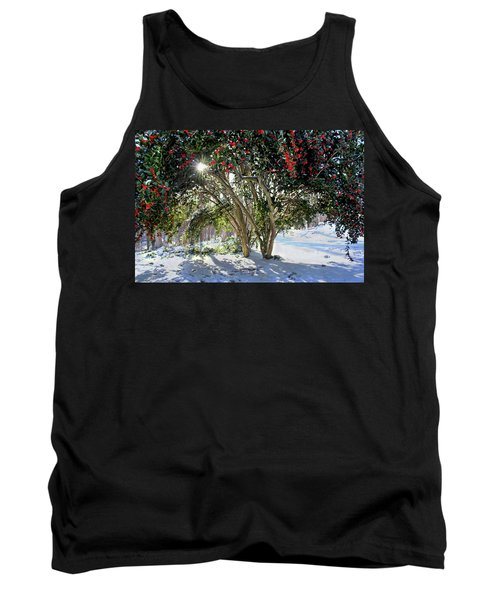 Tank Top featuring the photograph Winter Holly by Jessica Brawley