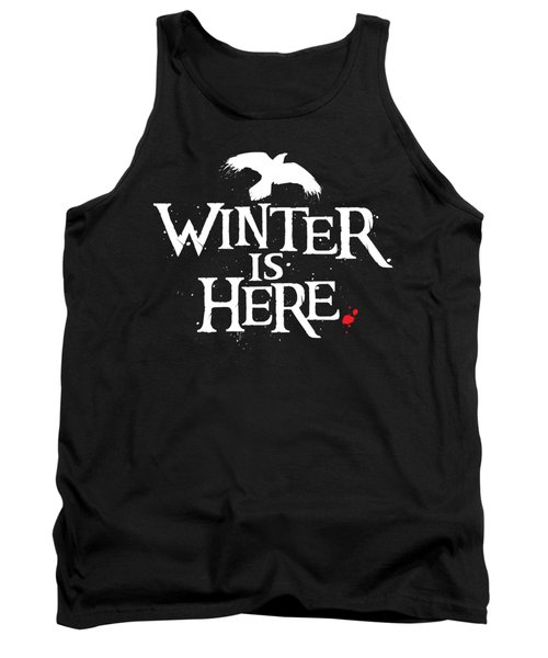 Winter Is Here - White Raven Tank Top
