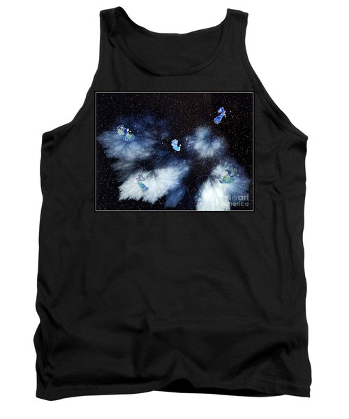 Winter Leaves And Fairies Tank Top